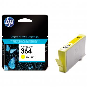 HP originál ink CB320EE, HP 364, yellow, 300str., HP Photosmart B8550, C5380, D5460
