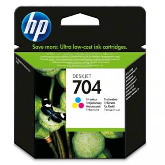 HP originál ink CN693AE, HP 704, color, 200str., 5,5 mlml, HP Deskjet 2060