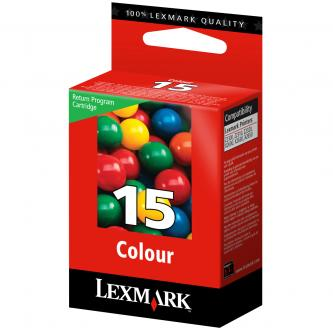 Lexmark originál ink 18C2110E, #15, color, return, 150str., Lexmark Z2320, X2650